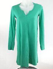 Anthropologie Left of Center Womens Dress sz XS Green T-Shirt Cotton Long Sleeve