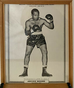 Vintage Boxing Picture Archie Moore Framed  Light Heavyweight Title