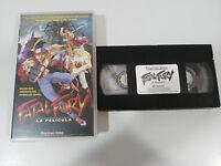 FATAL FURY LA PELICULA - VHS TAPE CINTA COLECCIONISTA ANIME MANGA ESPAÑA