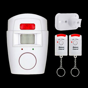 With 2 Remote Controls Alarm Sensor Wireless PIR Motion Sensor No Batteries