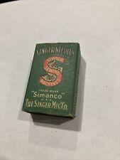 Vintage Box Singer sewing machine needles 12 Simanco new old stock 135 X 5