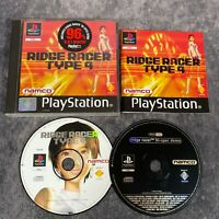 Ridge Racer Type 4 PS1 PlayStation 1 PAL Game Complete Namco + Hi Spec Demo