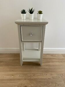 Bedside Table Cabinet 1 x Drawer Grey Bedroom Nightstand