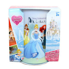 Disney Princess Kids Cinderella, Rapunzel Safe Night Light Battery Operated New