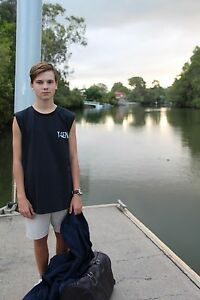 youth Boys Men Girls clothing singlet top black New X 4 Per Order For Price Of 1