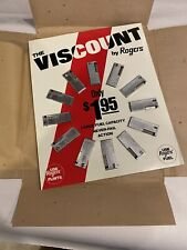THE VISCOUNT BY ROGERS LIGHTERS Store Display 12 Unused Lighters Large Fuel