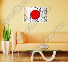 "Japan Country Flag Grunge Retro Wall Sticker Room Interior Decor 25""X20"""