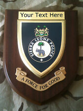 Sierra Leone Police Force Personalised  Wall Plaque