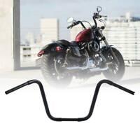 """Black 16"""" Rise 1-1/4"""" Fat Hangers Handlebars For Harley FLST FXST Sportster XL"""