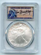 2007 $1 American Silver Eagle Dollar 1oz PCGS MS70 Leonard Buckley