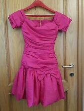 abito sartoriale da ballo donna ragazza debuttanti fucsia fiocco crepe tg 42
