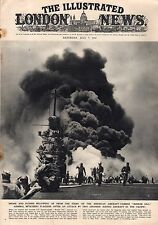 1945 London News July 7 - Okinawa; Roy Chapman Andrews; Bunker Hill carrier hit