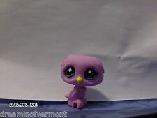 Littlest Pet Shop Blind Pack Pink Owl with Yellow Beak and Blue Eyes #2587