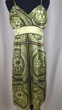 STUDIO Y Silky Multi-Color Patterned Dress Size 5/6 Floral Sundress Beach Fun