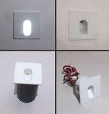 SEGNA PASSO QUADRATO MINI SPOT LED ORIENTATO uso interno da 1 W - luce  fredda