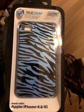 Truesnap Hardshell Plastic Case Cover Glossy (Blue) For Apple IPhone 4/4S.