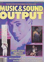 APRIL 1987 MUSIC SOUND OUTPUT vintage magazine - WHITNEY HOUSTON - GEORGE BENSON