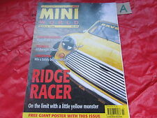 MINI WORLD MAGAZINE March 1996 RIDGE RACER HYBRID HATCHBACK ITALIAN JOB 1.3i GT