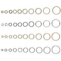 Huge Lot of 500 Open Ring 20 gauge 0.81mm Round Jumprings Plated Brass Metal
