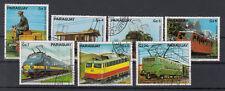 Paraguay Briefmarken 1979 Elektrische Eisenbahnen Mi 3249-55 gestempelt