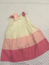 GYMBOREE Poodle Pretty Pieced Pink & White BOW Dress 18 24 Mo New NWT ADORABLE