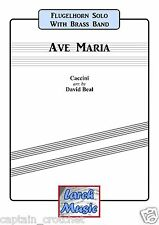 AVE MARIA - Flugel Horn Solo with Brass Band Music - Score and Parts *NEW* LM002