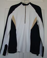 HALF ZIP FRONT PEBBLY JACKET TOP (STRETCH) by TAIL TECH, SZ L