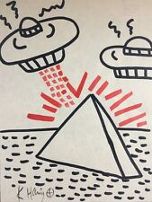 KEITH HARING HAND DRAWN, SIGNED & SYMBOL * UNTITLED * MARKER ON PAPER 1980