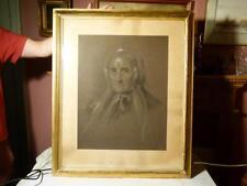 2 Samuel Lawrence artiste signé craie crayon portraits en période de cadres 19thC