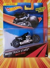 2013 Hot Wheels Batman MOTO Track Stars Bat Pod High Speed Motorcycle