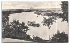 Early 1900s Mississippi Paddlewheeler from Indian Mound Park, St. Paul Postcard
