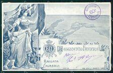 Militari 60º Reggimento Fanteria Brigata Calabria STRAPPINI cartolina XF5158