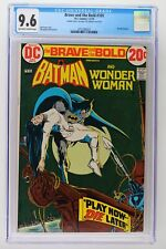 Brave and the Bold #105 - DC 1973 - CGC 9.6 - Wonder Woman! Double Cover!