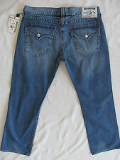 True Religion Straight Jeans Flap Pockets -Drifter w/o Rips -Size 38/40 NWT-$222