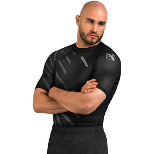 Hayabusa Odor Resist Short Sleeve MMA Compression Rashguard - Medium - Gray