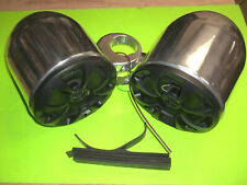 6.5 Wakeboard Tower Boat Speaker Pods Marine Stereo Cans Polished WITH SPEAKERS
