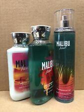 Bath & Body Works MALIBU HEAT Fragrance Mist, Shower Gel, Body Lotion 3 Pc Set