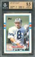 Troy Aikman Rookie Card 1989 Topps Traded #70T Cowboys BGS 9.5 (9.5 9.5 9 9.5)