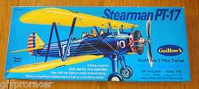 Guillows Model Kit - Stearman Pt17 Pilot Trainer Plane - 1:16 Scale - 803