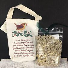New - Christmas Bird Seed with Gift Bag - Scandinavian Tradition
