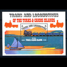 TURKS & CAICOS ISLANDS 1983 Locomotives. SG MS 735. Mint Never Hinged. (BH713)
