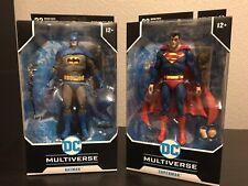 McFarlane Toys DC Multiverse Lot. Superman & Blue Variant Batman