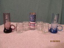 set of 7 assorted shot glasses - mason jars, florida, etc