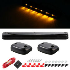 3PC Smoke LED Top Cab Roof Running Amber Lights For Chevy Silverado/GMC Sierra