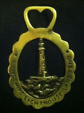 Vintage LONGSHIPS  LIGHTHOUSE LAND'S END Harness Brass England WOW YOUR WALLS!