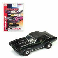 "SC329-5B Auto World HO Slot Car 1969 Pontiac GTO ""Judge Convertible"" BLACK"