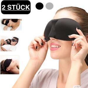 2x Schlafmaske Augenmaske 3D Damen Herren Schlafbrille Reise Maske Augenbinde