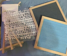 2-Sided Letter Board 10x10 letters wood frame & stand & bag