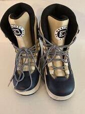 Mercury By Liquid Snow Board Boots Mens Size 9.5 Navy Blue White And Beige