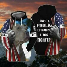 NEW Save A Pitbull Euthanize A Dog Fighter 3D Hoodie Dog Lover Best Price
